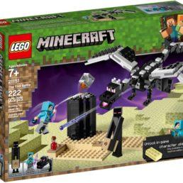 minecraft end battle lego