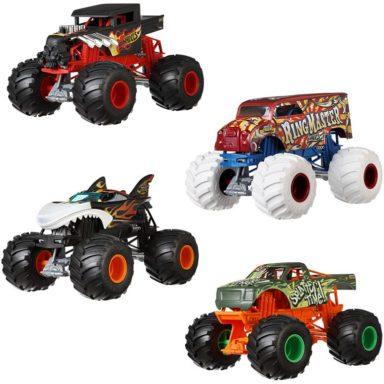 assorted oversized monster trucks