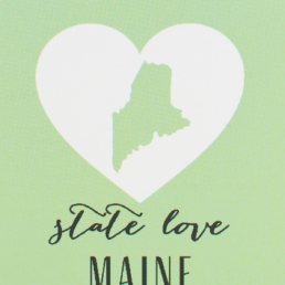 maine state love earrings