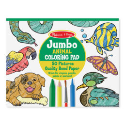 animal coloring pad