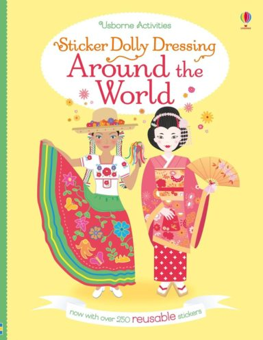 around the world sticker dolly dressing