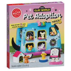 clay animal adoption truck craft set