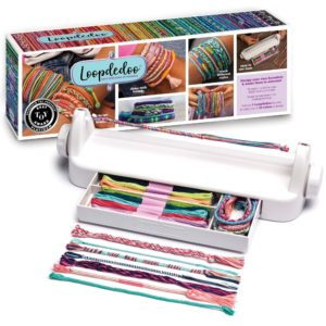 The Loopdedoo spinning loom friendship bracelet maker