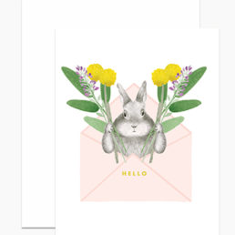 bunny envelope card