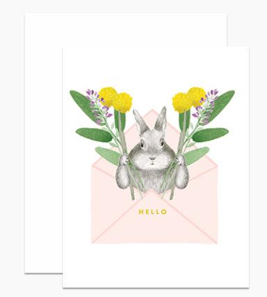bunny envelope card