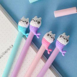 cat mermaid gel pens