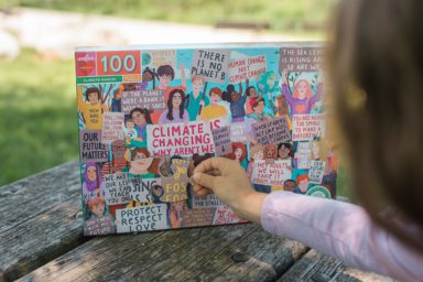 climate march puzzle from eeboo