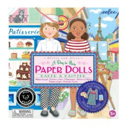 baker and painter paper doll