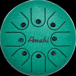 green steel tongue drum