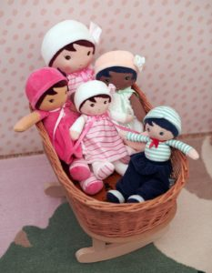 an assortment of soft baby dolls from the kaloo tendresse my first doll collection