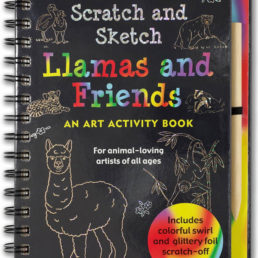 llamas and friends scratch and sketch book