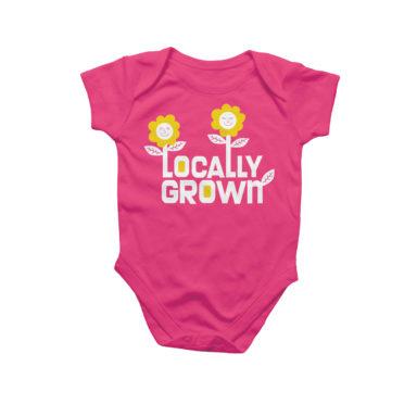 locally grown baby onesie