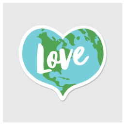 love the earth sticker