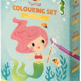 mermaid coloring set