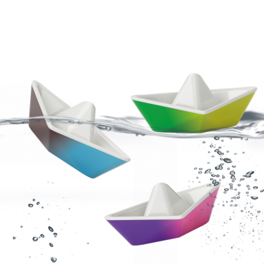 origami color changing bath boats