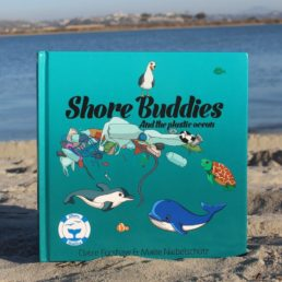 front view of the book shore buddies and the plastic ocean