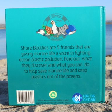 back view of the book shore buddies and the plastic ocean