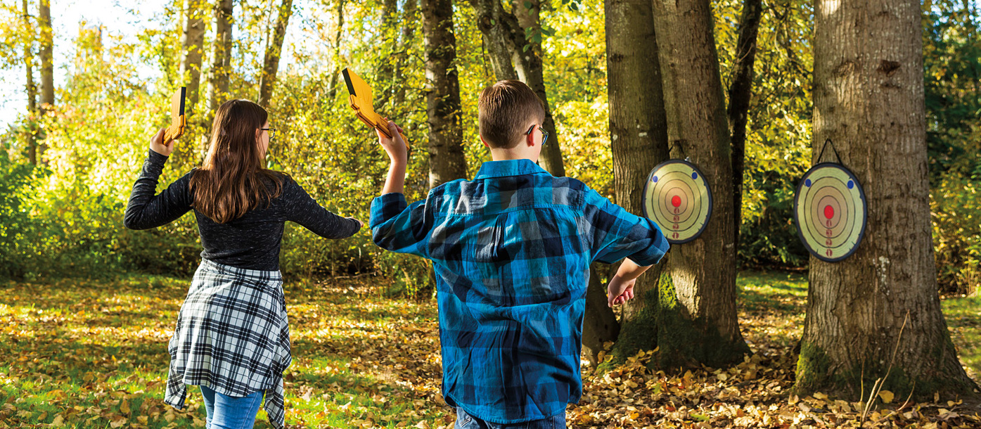 axe throwing game for kids