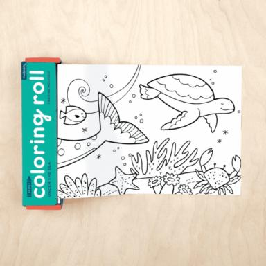 under the sea mini coloring roll