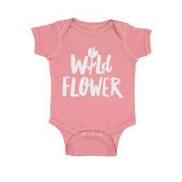 wild flower onesie